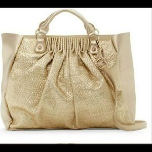 NWT Pink Haley Women's Gold Weekender Tote Purse